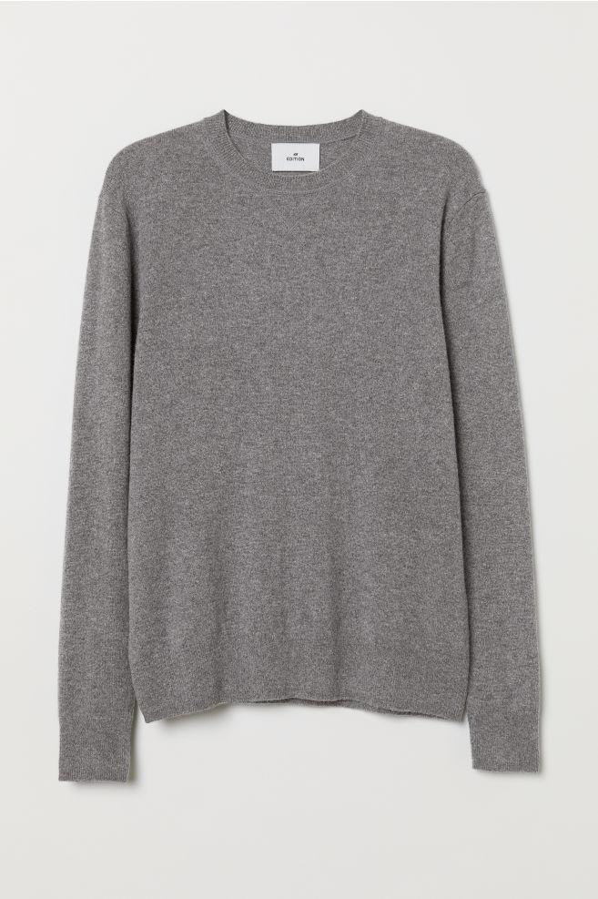 e9e6880e9 Cashmere Sweater - Gray melange - Men