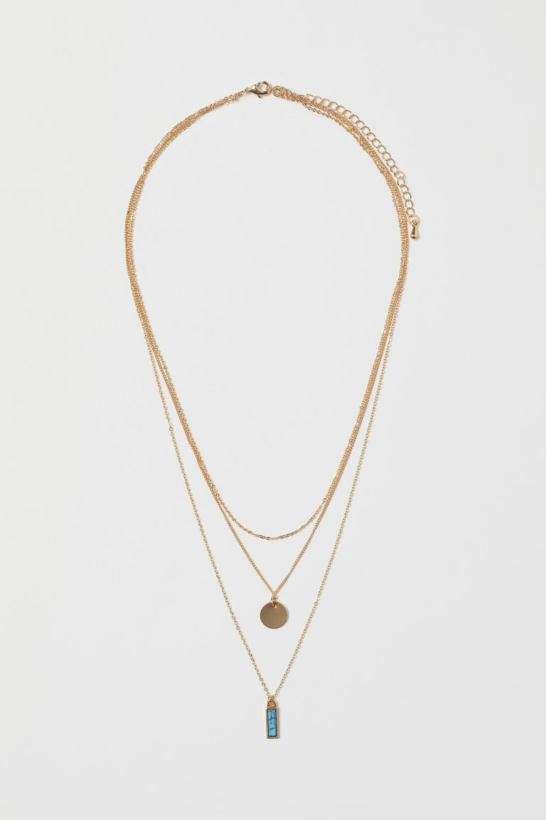 Three-strand necklace - Gold-coloured - Ladies | H&M