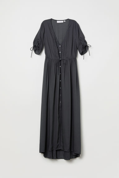 Maxi dress in modal - Dark grey - Ladies | H&M