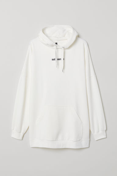 Hoodie - Wit/Not average - DAMES | H&M BE