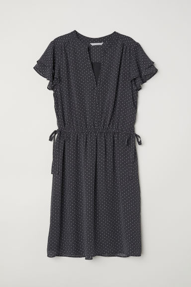 V-neck dress - Black/White patterned - Ladies | H&M CN
