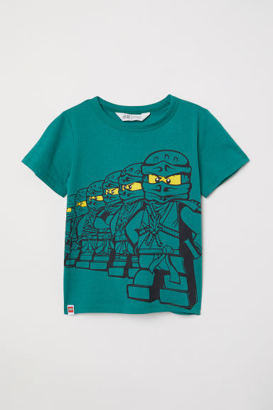 Printed T-shirt - Green/Lego - Kids | H&M