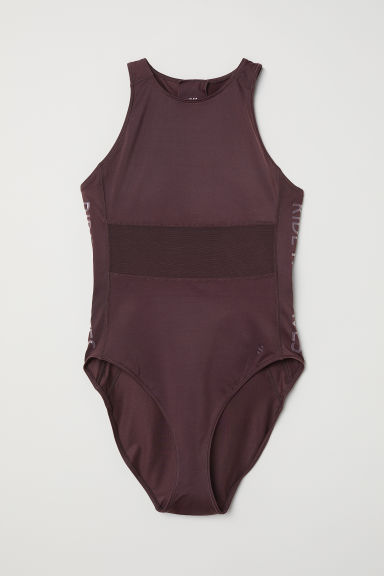 Costume intero sportivo - Prugna scuro - DONNA | H&M IT