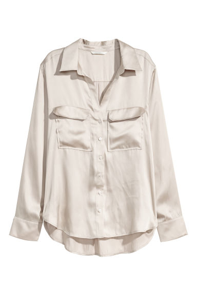 Shirt - Light beige -  | H&M CN