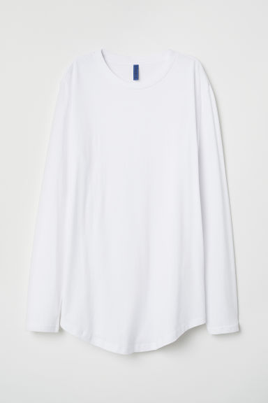 Tricot top met lange mouwen - Wit - HEREN | H&M BE