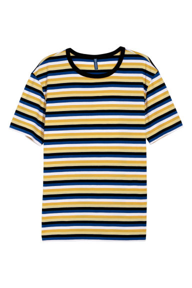 T-shirt a righe - Giallo/multicolore -  | H&M IT