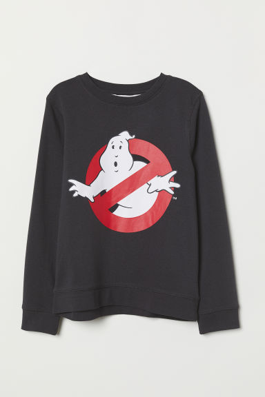 Printed sweatshirt - Black/Ghostbusters -  | H&M