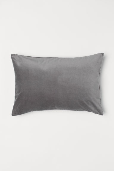 Housse de coussin en velours - Gris - Home All | H&M CA