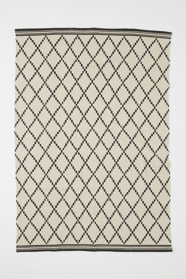 Patterned Cotton Rug - Light beige/gray patterned - Home All | H&M US