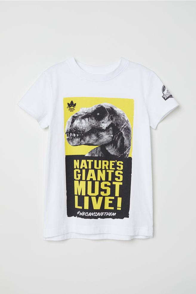 82215552c925 T-shirt med motiv - Vit/Jurassic World - BARN | H&M ...