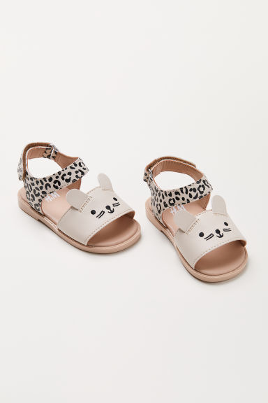 Sandals - Light beige/Leopard print - Kids | H&M