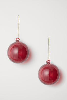2 pack christmas ornaments - Hm Christmas