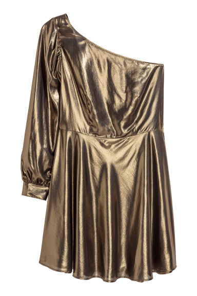 H&M+ Shimmering dress - Metallic - Ladies | H&M