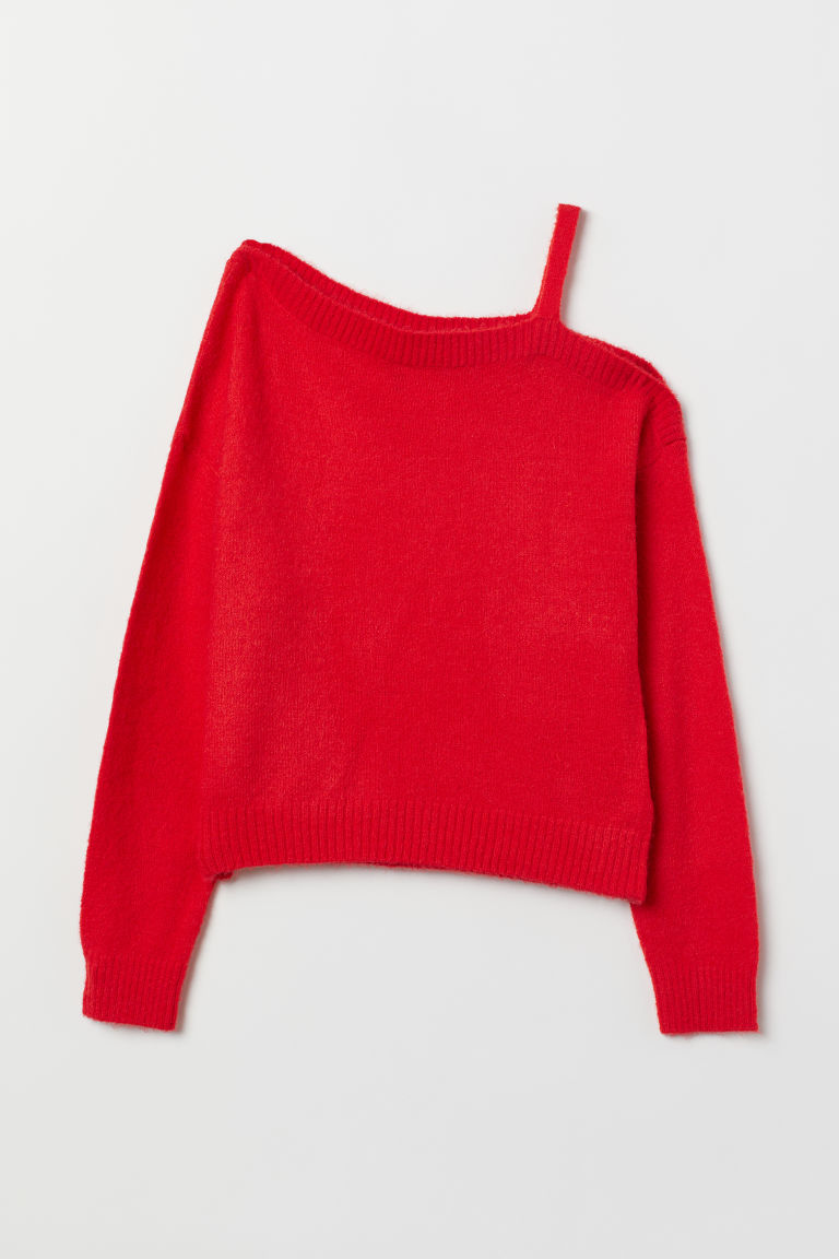 Knit Sweater - Bright red -  | H&M US