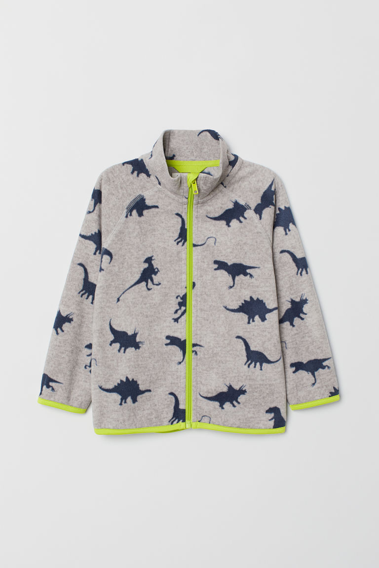 Giacca in pile - Grigio mélange/dinosauri - BAMBINO | H&M IT