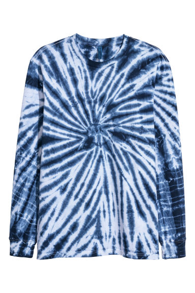 Long-sleeved top - Blue/Batik - Men | H&M