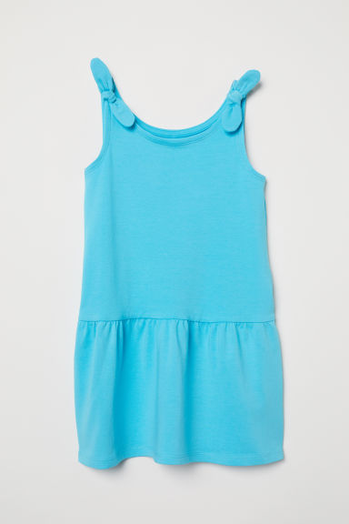 Sleeveless jersey dress - Turquoise - Kids | H&M CN