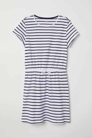 Abito a T-shirt - Bianco/righe - BAMBINO | H&M IT