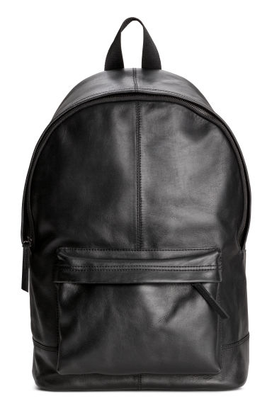 Leather backpack - Black -  | H&M