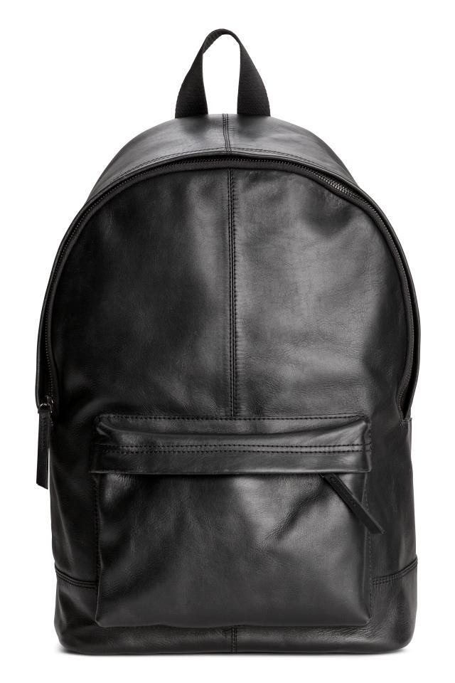 469c7c693cca Кожаный рюкзак - Черный - Мужчины | H&M RU