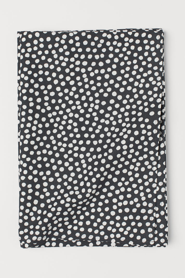Spotted tablecloth - Anthracite grey/White spotted - Home All | H&M CN