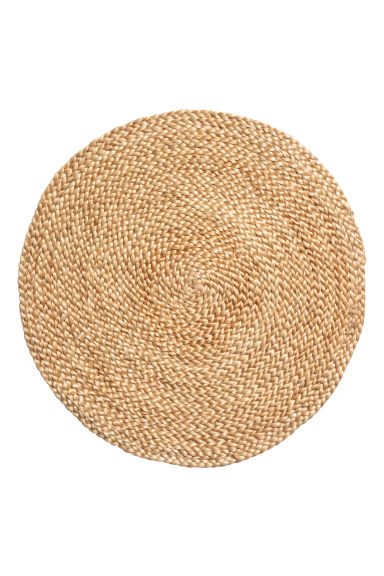 Rund bordstablett i jute - Jute - Home All | H&M FI
