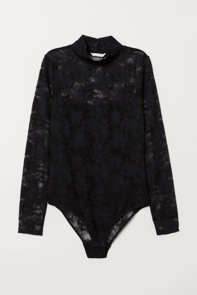 Mesh Bodysuit - Black - Ladies | H&M US