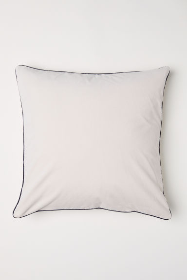 Cotton velvet cushion cover - Light beige - Home All | H&M CN