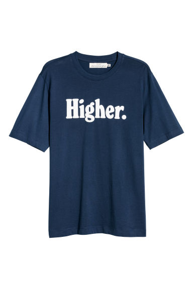 Printed T-shirt - Dark blue/Higher - Men | H&M