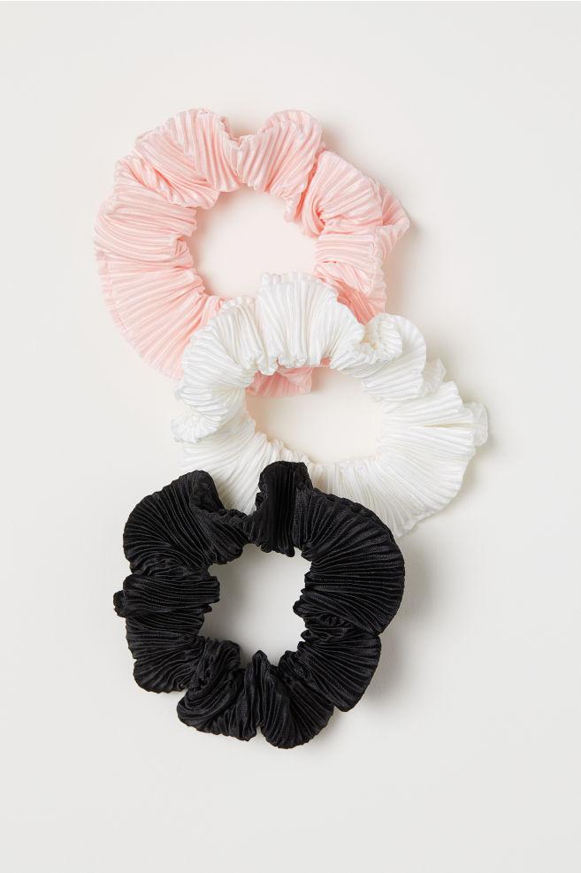 3 látkové gumičky do vlasů - Světle růžová - ŽENY  e23a84f9a3