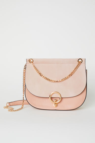 Leather Shoulder Bag - Powder pink -  | H&M CA