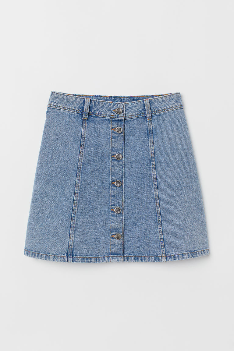 Gonna svasata - Blu denim chiaro -  | H&M IT