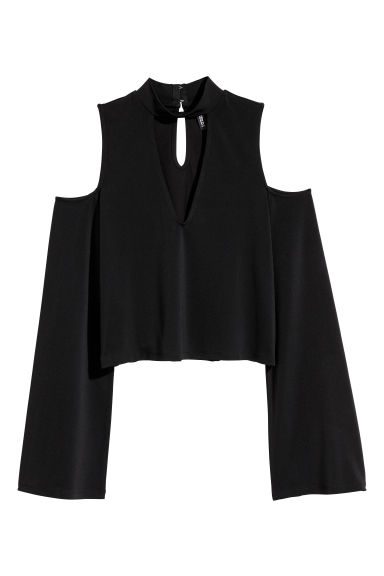 Cold shoulder top - Black -  | H&M