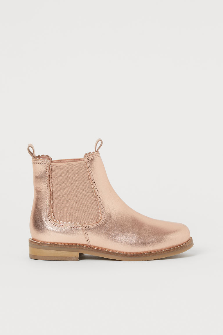 Bottines en cuir - Rose doré - ENFANT | H&M BE