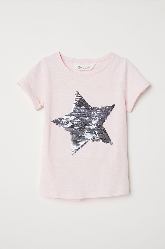 dbe2bfd9 T-shirt med motiv - Rosa/Stjerne - BARN | H&M ...