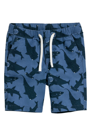 Twill shorts - Blue/Sharks - Kids | H&M
