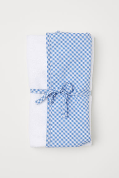 Hooded towel - Blue/White -  | H&M CN