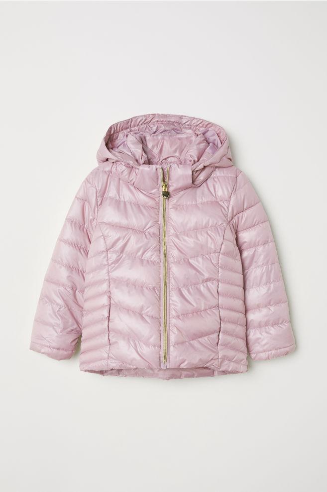 bed1f0c2b1 Párnázott kapucnis dzseki - Antik rózsaszín - GYEREK | H&M ...
