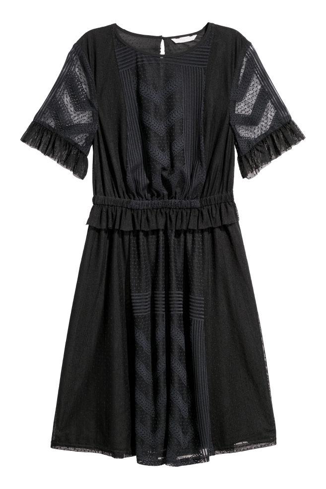 760797c28a Knee-length dress - Black - | H&M ...