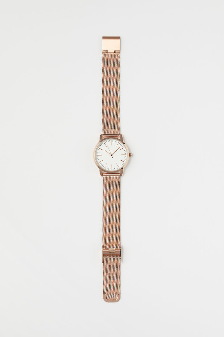 Metal watch - Rose gold-coloured - Ladies | H&M GB