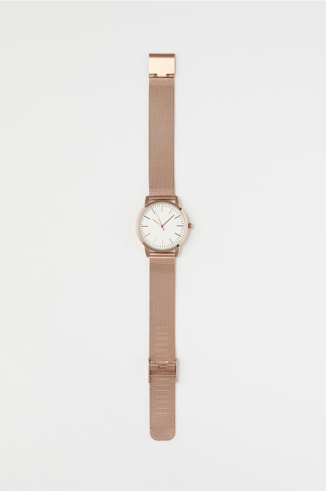 Reloj de pulsera de metal - Rose gold-coloured - MUJER  98574bd112a3