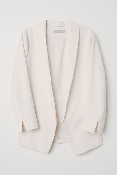 Shawl collar jacket - White -  | H&M