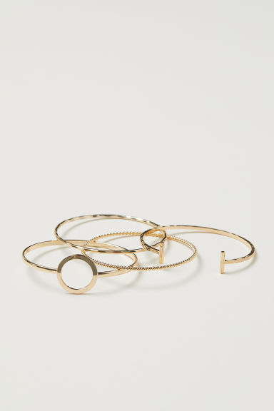 4-pack bangles - Gold-coloured - Ladies | H&M CN