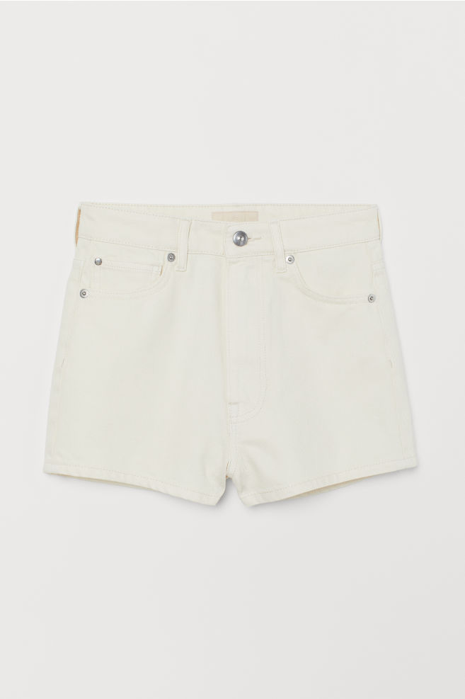 917b162ca2 ... Denim Shorts High Waist - Natural white - Ladies | H&M ...
