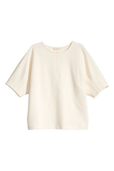 Wide cotton top - Cream - Ladies | H&M