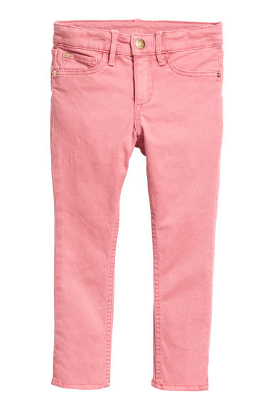 Twill trousers Skinny Fit - Pink -  | H&M