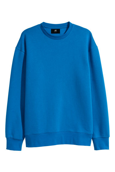 Camisola sweat Loose fit - Azul vivo -  | H&M PT