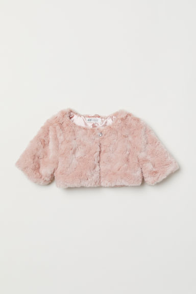 Faux fur bolero - Powder pink - Kids | H&M