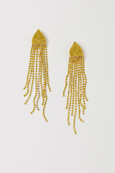 Long sparkly earrings - Yellow - Ladies | H&M
