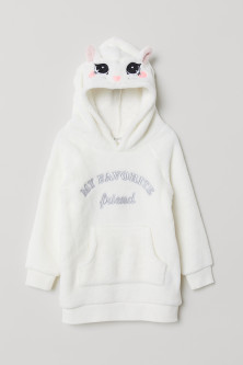 Hooded fleece top
